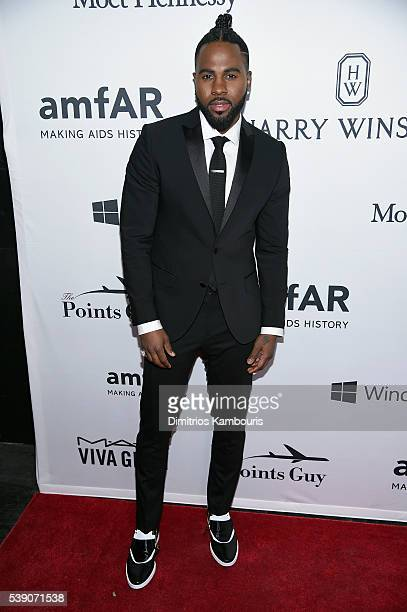 Singer Jason Derulo arrives at the 7th Annual amfAR Inspiration Gala on June 9 2016 in New York City
