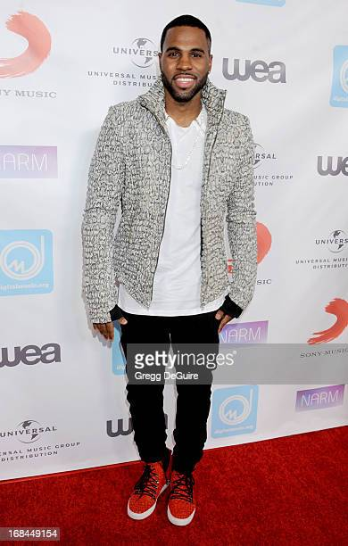 Singer Jason Derulo arrives at the NARM Music Biz Awards dinner party at the Hyatt Regency Century Plaza on May 9 2013 in Century City California