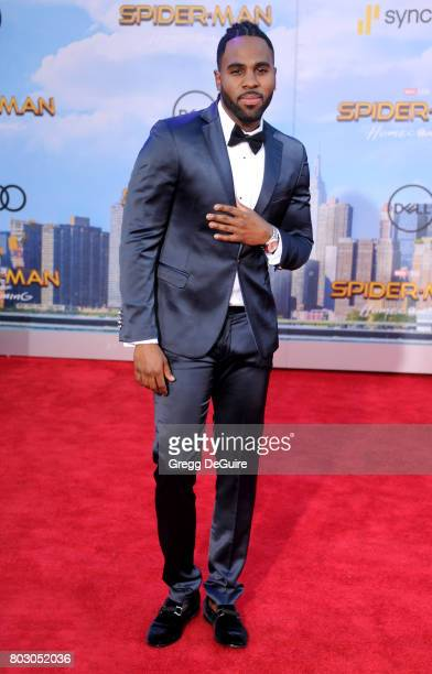 Singer Jason Derulo arrives at the premiere of Columbia Pictures' SpiderMan Homecoming at TCL Chinese Theatre on June 28 2017 in Hollywood California