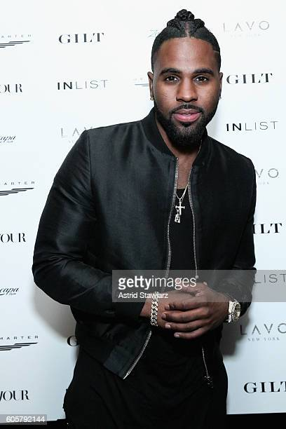 Singer Jason Derulo attends DuJour Media's Jason Binn and Gilt Celebration of fashion week with Jason Derulo presented by JetSmarter InList and...
