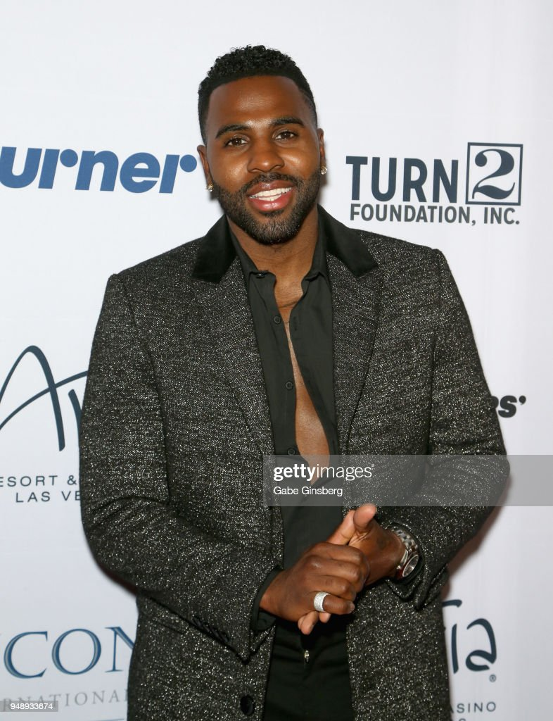 Singer Jason Derulo attends the 2018 Derek Jeter Celebrity Invitational gala at the Aria Resort & Casino on April 19, 2018 in Las Vegas, Nevada.