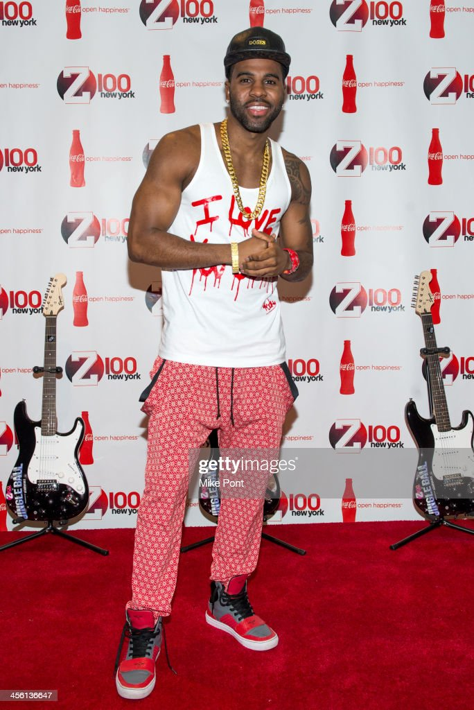 Singer Jason Derulo attends the Z100 & Coca-Cola All Access Lounge at Hammerstein Ballroom on December 13, 2013 in New York City.