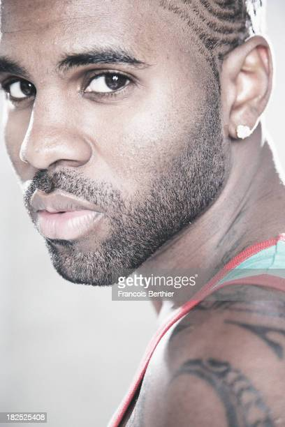 Singer Jason Derulo is photographed for Self Assignment on September 11 2013 in Paris France