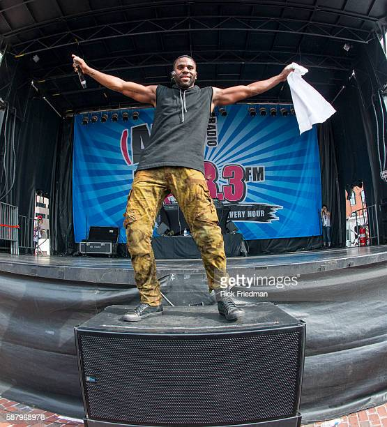 Singer Jason Derulo performing at a free concert sponsored by AMP 103 Radio on Boston City Hall Plaza in Boston MA on June 30 2013 Derulo whose real...