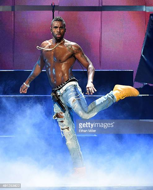 Singer Jason Derulo performs at the 2015 iHeartRadio Music Festival at MGM Grand Garden Arena on September 18 2015 in Las Vegas Nevada