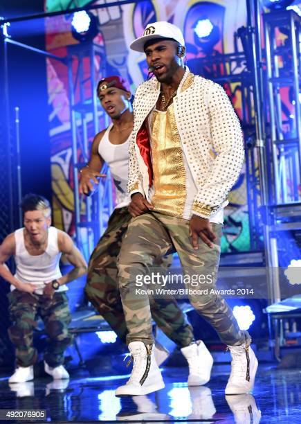 Singer Jason Derulo performs onstage during the 2014 Billboard Music Awards at the MGM Grand Garden Arena on May 18 2014 in Las Vegas Nevada