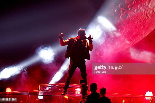 Singer Jason Derulo performs onstage during the iHeartRadio Music Awards at The Forum on April 3 2016 in Inglewood California