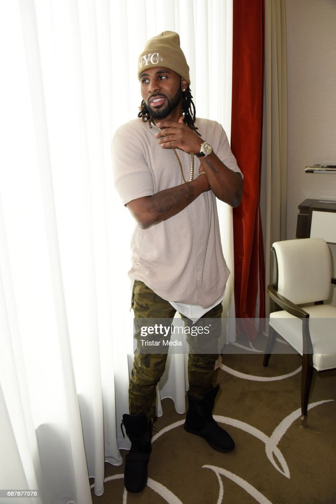 US Singer Jason Derulo poses during a photo session to