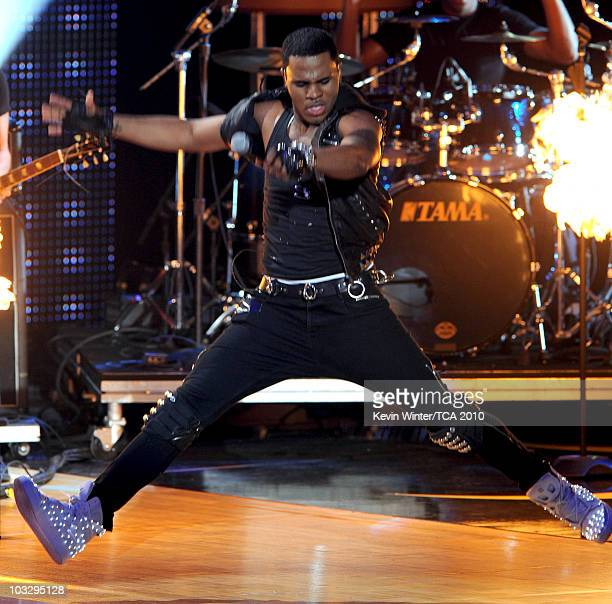 Singer Jason Derulo speaks onstage during the 2010 Teen Choice Awards at Gibson Amphitheatre on August 8 2010 in Universal City California