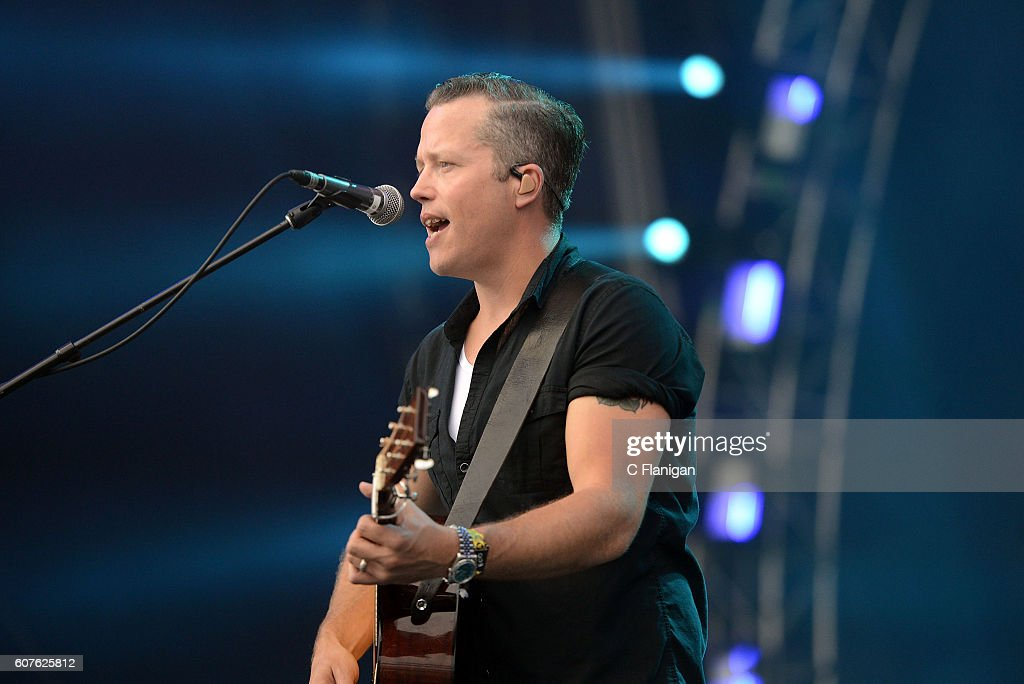Singer Jason Isbell performs on the Trestles stage during KAABOO Del Mar at the Del Mar Fairgrounds on September 18, 2016 in Del Mar, California.