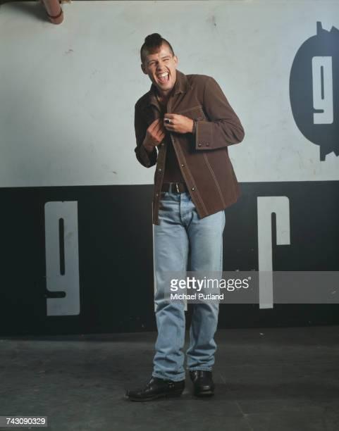 Singer Jason Orange of British boy band Take That posed during a photoshoot in London 1991