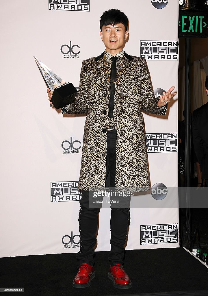Singer Jason Zhang Jie poses in the press room at the 2014 American Music Awards at Nokia Theatre L.A. Live on November 23, 2014 in Los Angeles, California.