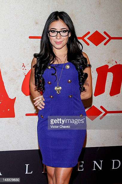 Singer Jass Reyes of La Voz Mexico attends the Casa De Mi Padre Mexico City premiere at the Teatro Metropolitan on April 23 2012 in Mexico City Mexico