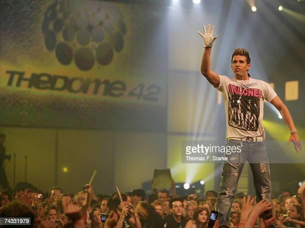Singer Jay Kahn of US5 performs during The Dome 42 music show at the TUI Arena May 25 2007 in Hanover Germany