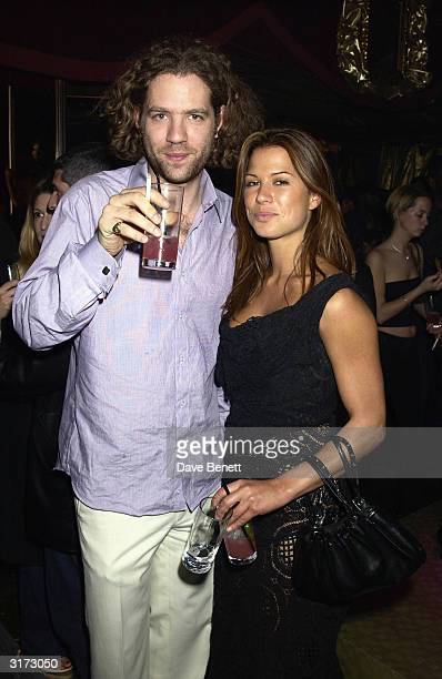 Singer Jay Kay and actress Rhona Mitra during the AfterParty for the Premiere of the movie 'Ali G The Movie' on March 19th 2002 at the Mayfair Club...