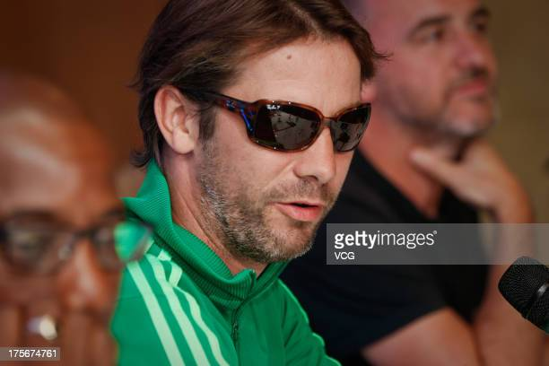 Singer Jay Kay of Jamiroquai attends a press conference prior to their concert at Nikko Hotel on August 6 2013 in Shanghai China