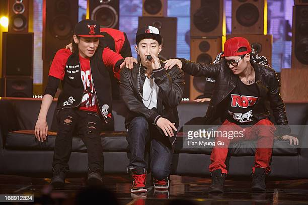 Singer Jay Park performs onstage during the Mnet 'M Countdown' at CJ EM Center on April 18 2013 in Seoul South Korea
