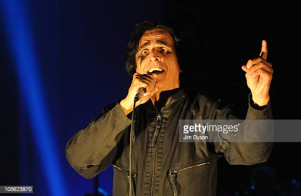 Singer Jaz Coleman of British postpunk band Killing Joke performs live on stage at Hammersmith Apollo on October 16 2010 in London England