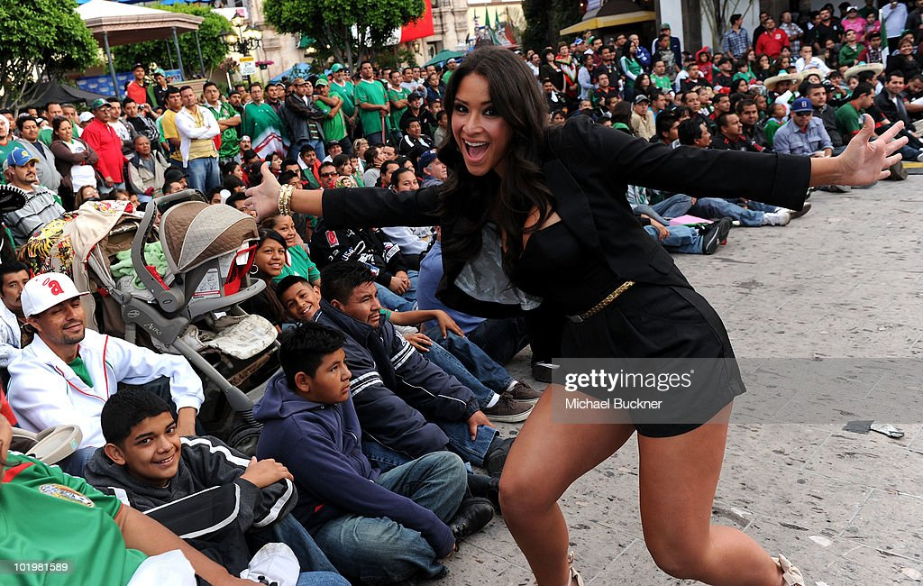 Singer Jazmin Lopez attends the T-Mobile World Cup Viewing Party at Plaza Mexico on June 11 at Plaza Mexico in Lynwood, CA.