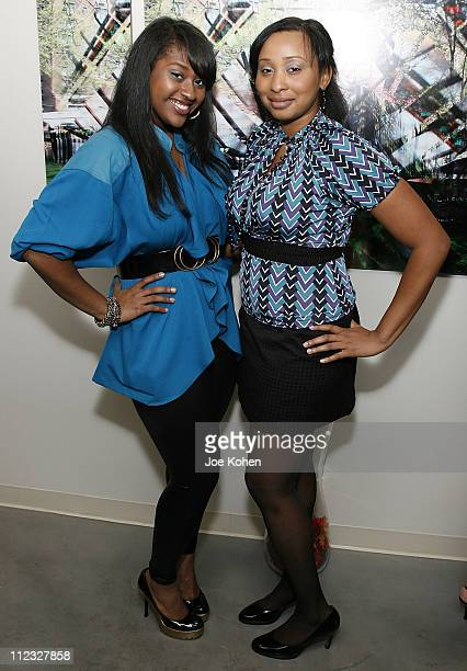 Singer Jazmine Sullivan and songwriter Shaena Gerald attend the New York Chapter of the National Academy of Recording Arts and Sciences Open House...