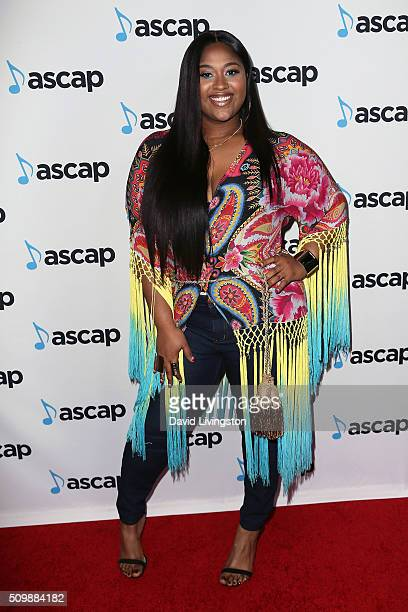 Singer Jazmine Sullivan attends the ASCAP GRAMMY Nominee Cocktail Soiree at SLS Hotel on February 12 2016 in Los Angeles California