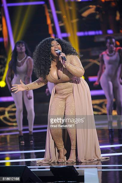 Singer Jazmine Sullivan performs onstage at Black Girls Rock 2016 on April 1 2016 in Newark City