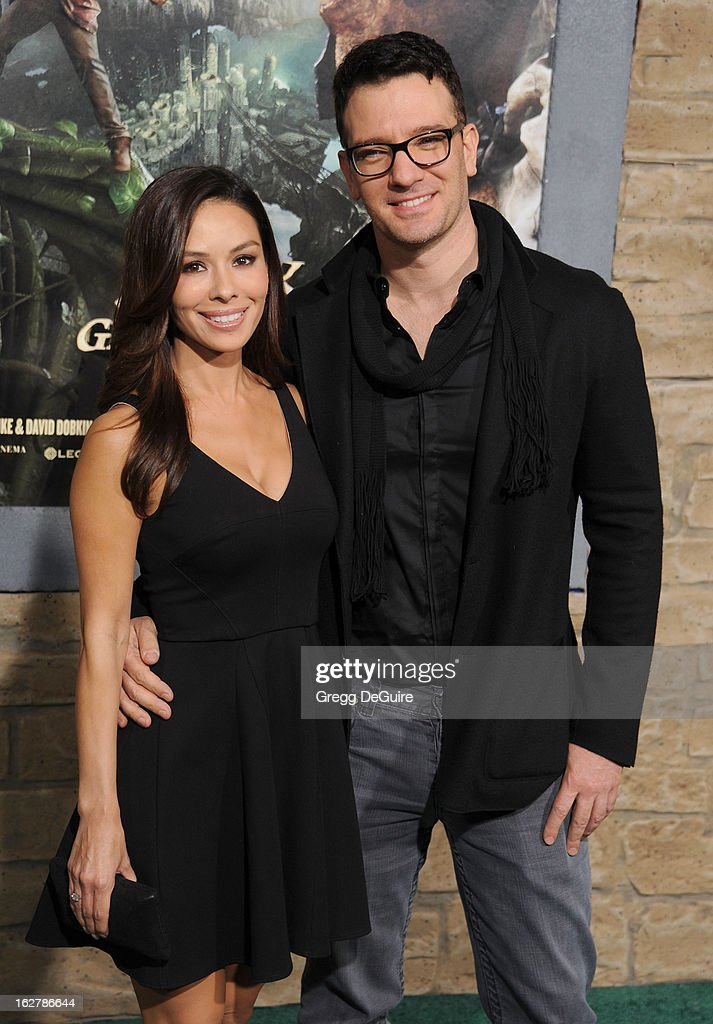Singer JC Chasez and Kathryn Smith arrive at the Los Angeles premiere of 'Jack The Giant Slayer' at TCL Chinese Theatre on February 26, 2013 in Hollywood, California.