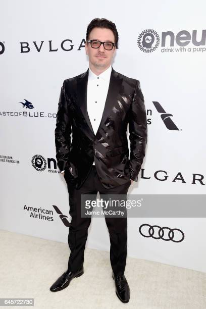 Singer JC Chasez attends the 25th Annual Elton John AIDS Foundation's Academy Awards Viewing Party at The City of West Hollywood Park on February 26...