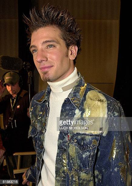 US singer JC Chasez member of the pop music group NSYNC smiles after being nominated for the 2001 Grammy Awards 03 January 2001 in Beverly Hills CA...