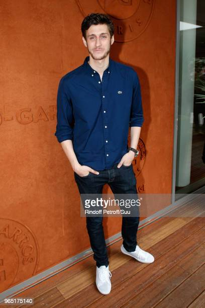 Singer JeanBaptiste Maunier attends the 2018 French Open Day Six at Roland Garros on June 1 2018 in Paris France