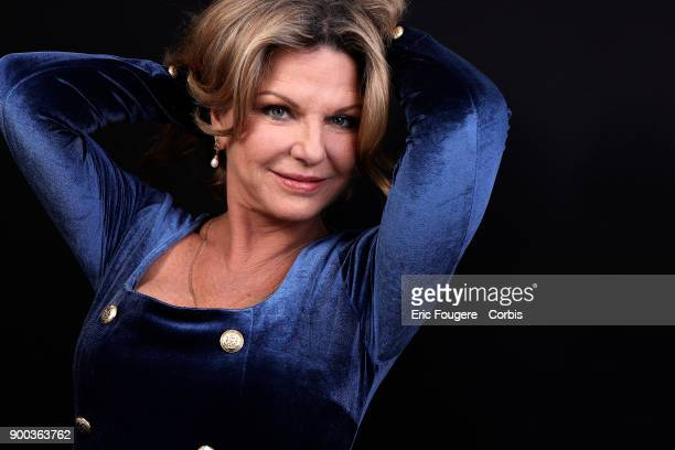 Singer Jeane Manson poses during a portrait session in Paris France on