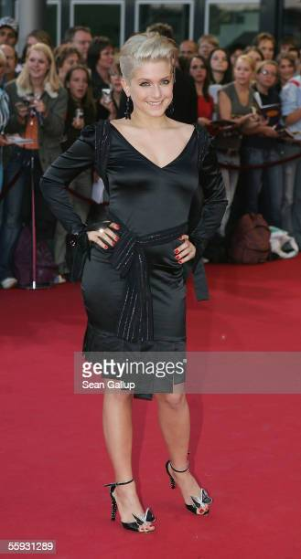 Singer Jeanette Biedermann arrives at the German Television Awards at the Coloneum on October 15 2005 in Cologne Germany