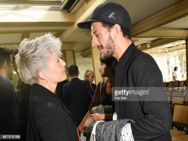 Singer Jeanne Added and Vincent Dedienne attend the Agnes B Show as part of the Paris Fashion Week Womenswear Spring/Summer 2018 on October 3 2017 in...