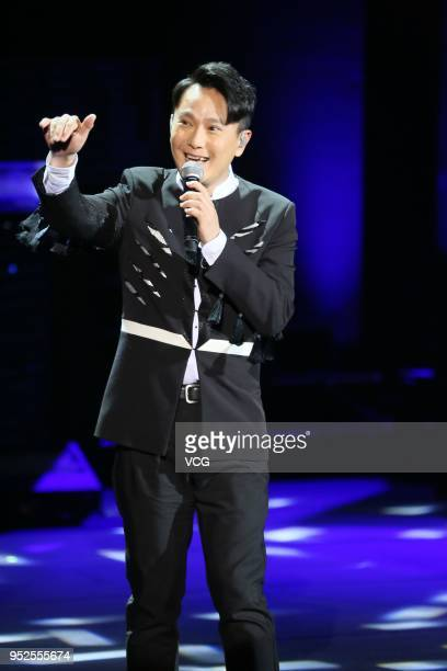 Singer Jeff Chang performs at 2018 Fanstime International Festival on April 28 2018 in Macao China