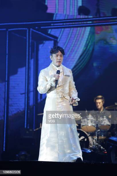 Singer Jeff Chang ShinChe performs onstage during his Continuum World Concert Tour on January 19 2019 in Chengdu Sichuan Province of China