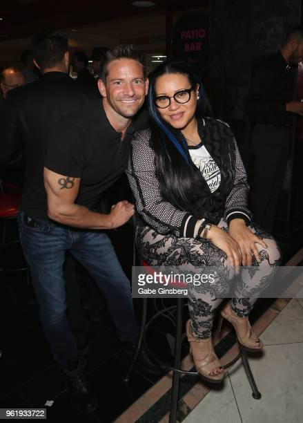 Singer Jeff Timmons of 98 Degrees and recording artist Cheryl Salt James of SaltNPepa attend the 16th anniversary event for X Burlesque at Flamingo...
