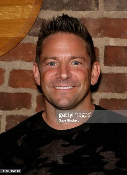 Singer Jeff Timmons of 98 Degrees attends the Mike Hammer Celebrity Poker Tournament benefiting US Vets at Binion's Gambling Hall Hotel on May 26...