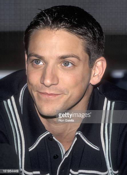 Singer Jeff Timmons of 98 Degrees autographs copies of 98 Degrees' New Album '98 Degrees and Rising' on April 9 1999 at Sam Goody in Universal City...