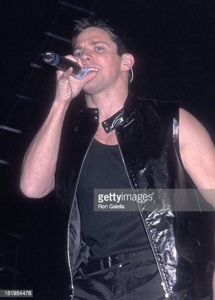 Singer Jeff Timmons of 98 Degrees performs at Z100's Fifth Annual 'Jingle Ball' Concert on December 16 1999 at Madison Square Garden in New York City