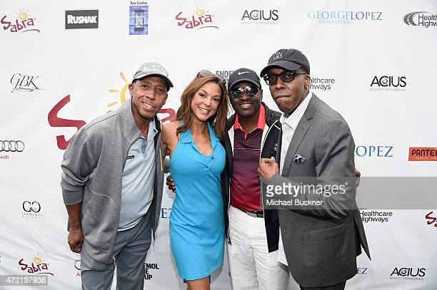 Singer Jeffrey Osbourne model Eva LaRue singer Johnny Gill and comedian Arsenio Hall attended the 8th Annual George Lopez Celebrity Golf Classic...