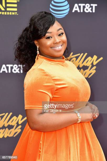 Singer Jekalyn Carr arrives at the 32nd annual Stellar Gospel Music Awards at the Orleans Arena on March 25, 2017 in Las Vegas, Nevada.