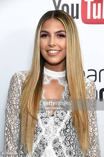 Singer Jena Rose Raphael attends the 6th annual Streamy Awards hosted by King Bach and live streamed on YouTube at The Beverly Hilton Hotel on...