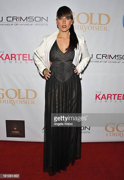 """Singer Jenna Andrews arrives at BET Network's Music Matters Showcase """"Lipstick On The Mic"""" at Belasco Theatre on February 8, 2013 in Los Angeles,..."""