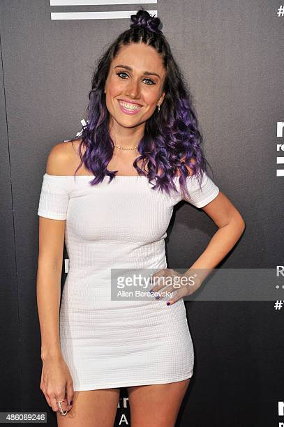 Singer Jenna Andrews attends Republic Records private PostVMA celebration at Ysabel on August 30 2015 in West Hollywood California