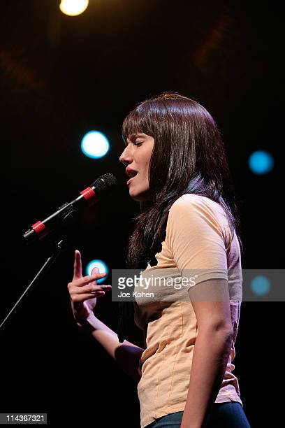 Singer Jenna Andrews performs during GRAMMY Career Day sponsored by the GRAMMY Foundation at Pace University on May 18 2011 in New York City
