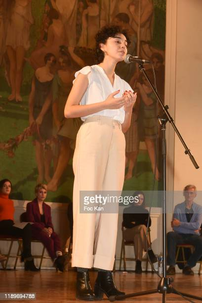 Singer Jenna Boulmedais attends the Poesie En Liberté 2019 Awards Ceremony At Mairie Du 5eme on November 23 2019 in Paris France
