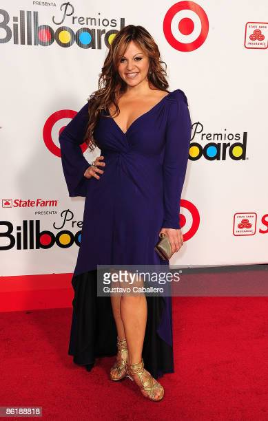 Singer Jenni Rivera attends the 2009 Billboard Latin Music Awards at Bank United Center on April 23 2009 in Miami Beach Florida