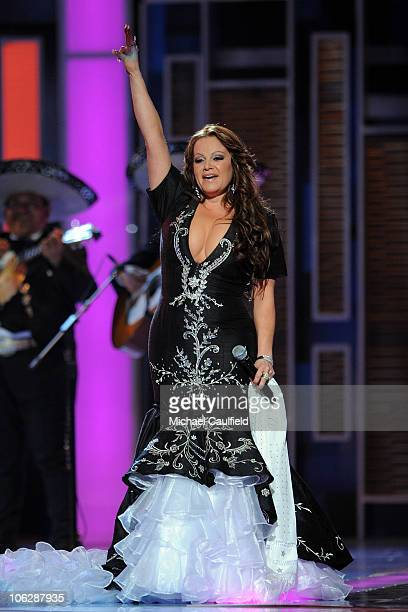 Singer Jenni Rivera performs at the 9th Annual Latin GRAMMY Awards held at the Toyota Center on November 13 2008 in Houston Texas