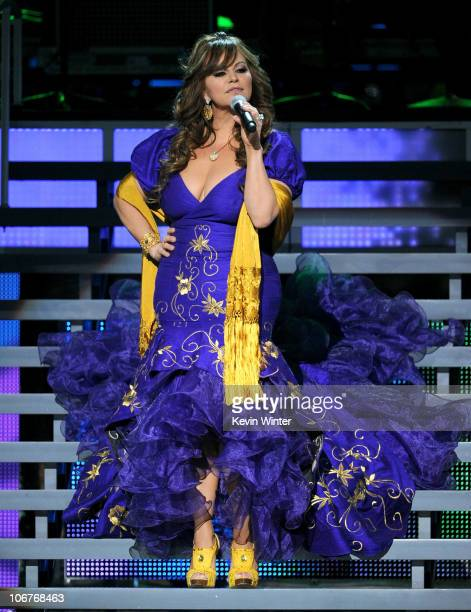 Singer Jenni Rivera performs onstage during the 11th annual Latin GRAMMY Awards at the Mandalay Bay Events Center on November 11 2010 in Las Vegas...