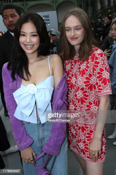 Singer Jennie Kim and Lily Taieb attend the Chanel Womenswear Spring/Summer 2020 show as part of Paris Fashion Week on October 01 2019 in Paris France